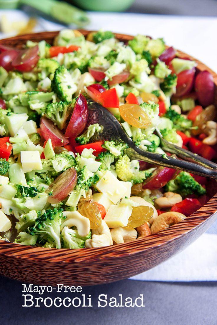 Mayo-Free Broccoli Salad