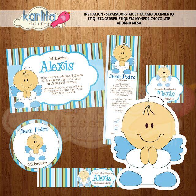 diseñoskarlita: Kit imprimible Mi bautizo