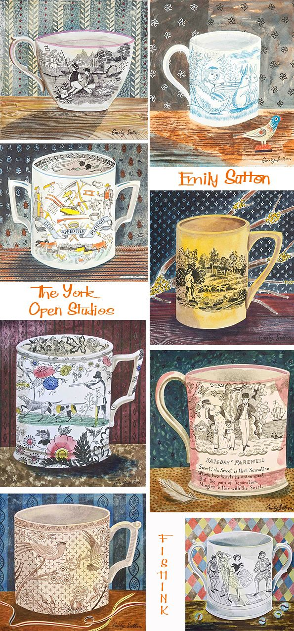 """Victorian Crockery series"" by Emily Sutton (watercolour)"
