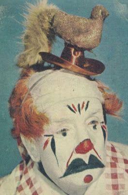 surreal clown portrait