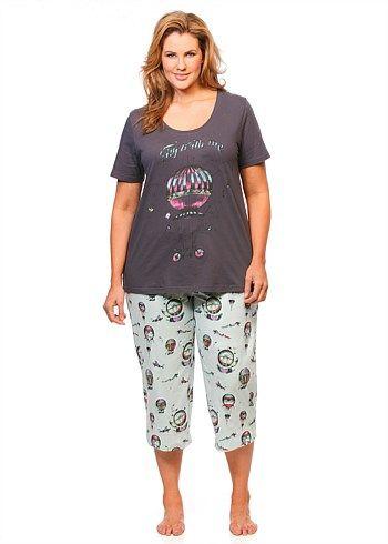 Sleepwear | Plus Size Sleepwear - FLY AWAY PJ SET - TS14