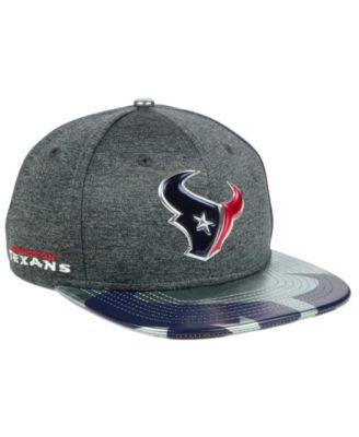 New Era Houston Texans 2017 Draft 9FIFTY Snapback Cap - Gray Adjustable