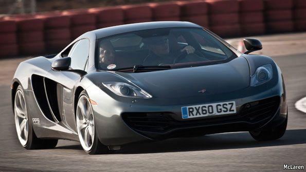McLaren sports car with Carbon fibre chasis - drool