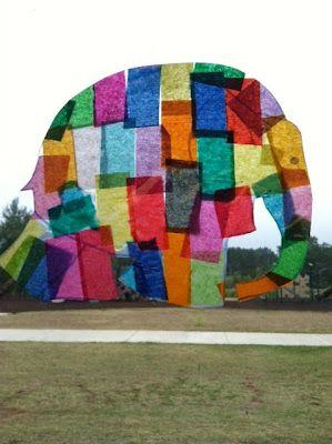 tissue paper elmer the elephant