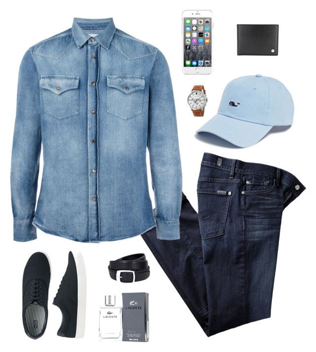 friday by desiharyanto on Polyvore featuring Brunello Cucinelli, 7 For All Mankind, Uniqlo, Akribos XXIV, Mont Blanc, Vineyard Vines, Maison Kitsuné, Lacoste, men's fashion and menswear
