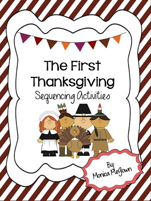 The First Thanksgiving... with a focus on Sequencing! It's FREE through Tuesday 11/19 so grab it now! Great for 2nd and 3rd grade.