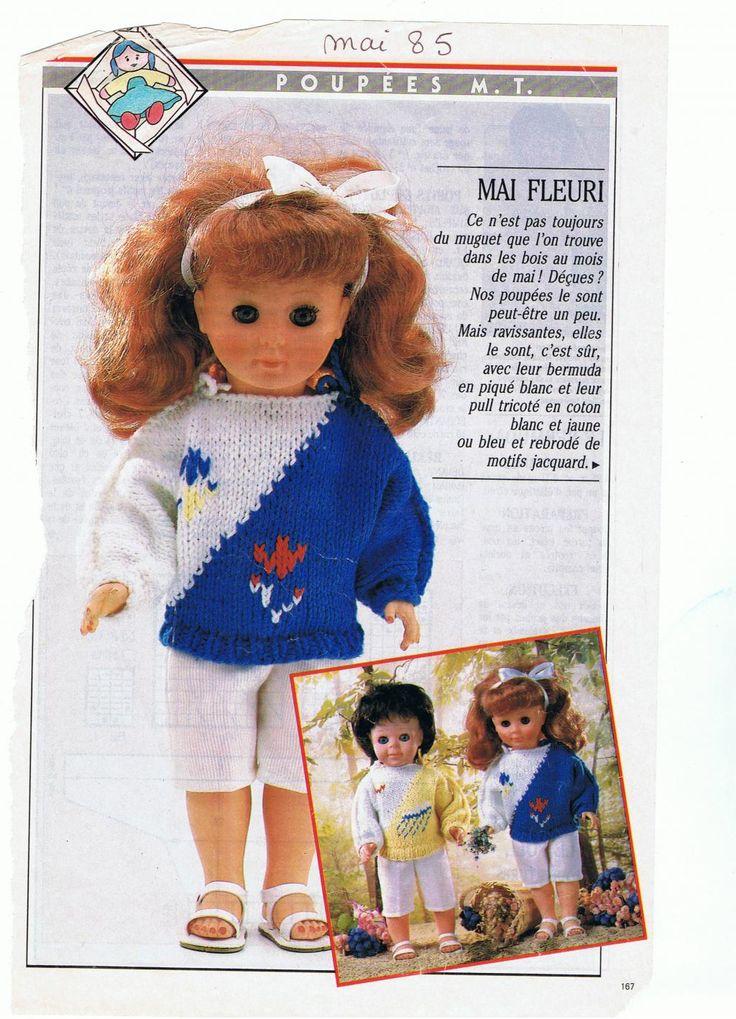 PAR AMOUR DES POUPEES :: M&T 1985-05 Pulls en coton pour Jean-Michel et Marie-Françoise (tricot)