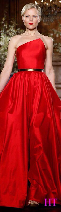 Vestido rojo de colección   2014