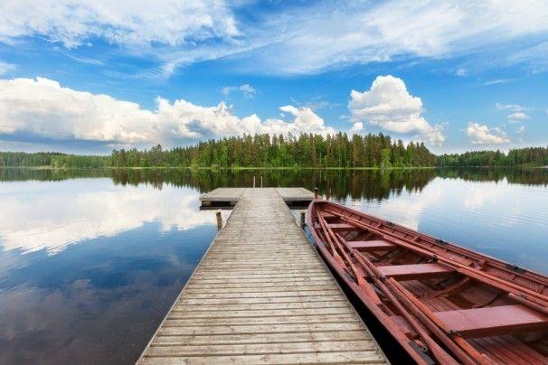 Malerische Lage des Koivulahden Rapukartano in der Region #Tampere - http://www.nordicmarketing.de/koivulahden-rapukartano/