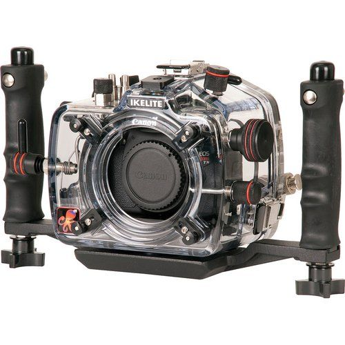 This is the mother of all Canon waterproof cases. This is a professional spec Ikelite housing that is for professional use. If you want to ensure your Canon camera doesn't see a drop of water this is the product to have. Be warned - it isn't cheap!