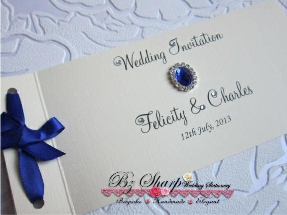 Vintage Cheque Book Wedding Invitation by BZ Sharp