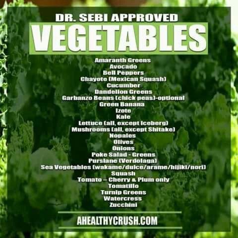 Dr. Sebi veggies