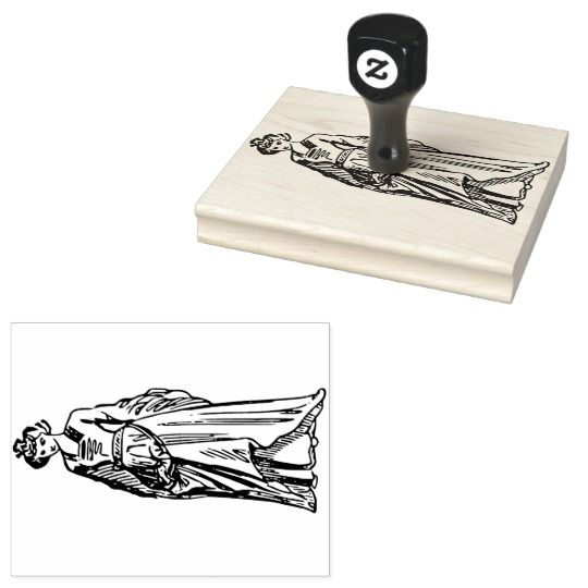 16th Century Lady Rubber Stamp