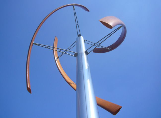 Turbine that looks like a piece of art will fit right in at your yacht club!