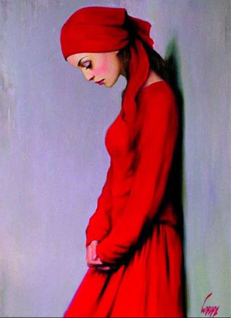 "Fine Art and You: Ukrainian Portrait painter-""Ladies in Red"" | Taras Loboda 1961"