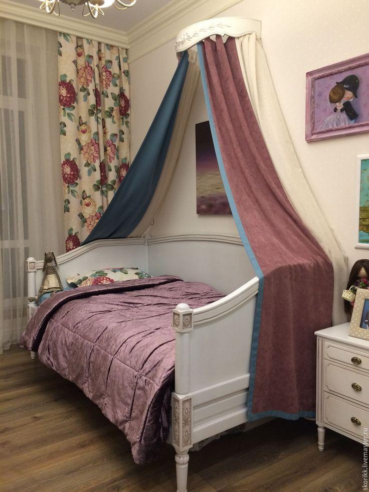 Купить Кровать в комнату девочки. Массив сосны. - кровать на заказ, в стиле Прованс, для девочки, спальня