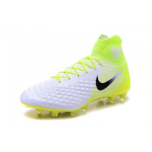 Billige Fodboldstøvler Tilbud - Kobe Nike MagistaX Proximo II FG Hvid Gul Fodboldsko