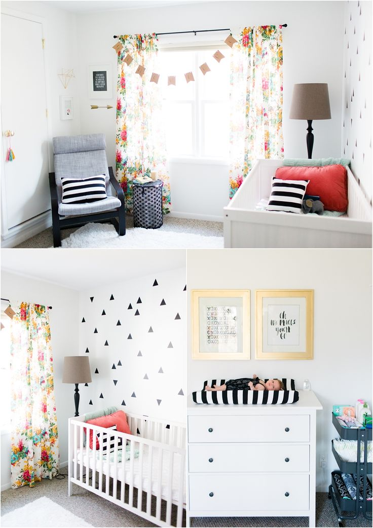Nursery Tour By Tifani Lyn Love The Neutral Color Scheme With Very Bright Accents Cute Furniture Lovely Curtains Great Changing Space Good Idea W