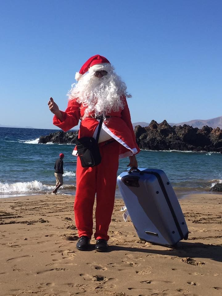Playa Chica Lanzarote Spain On Christmas Day 2017 Monday 25 December 2017 Lanzarote Balearic Islands Canary Islands