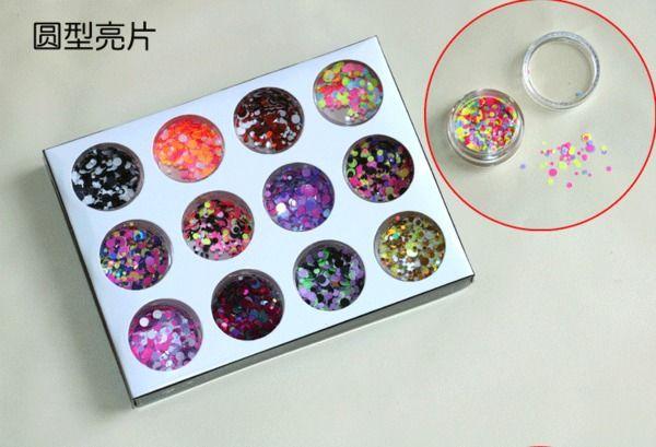 блестки для ногтей блестки круглый бриллиант ювелирных изделий лазерной блеск блеск ногтей фототерапии ярко-розовый лак для ногтей украшения