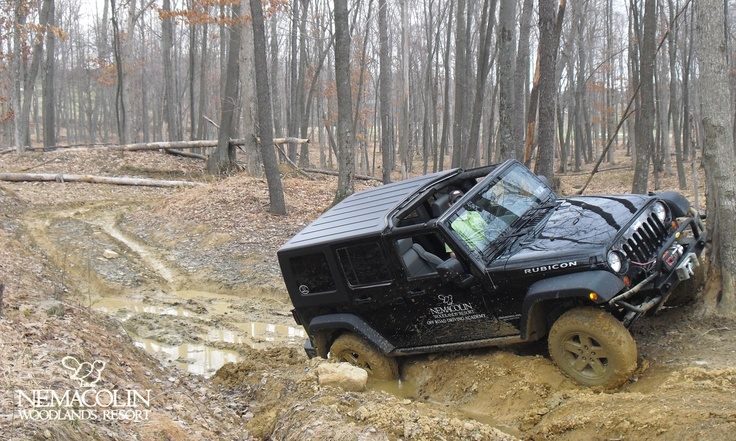 Drive portions of our 20 miles of rugged trails and terrain with our Jeep Off-Road Driving Academy.