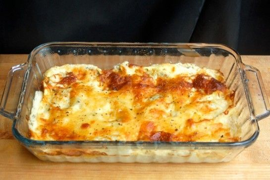 Mom's Easy Alfredo Ravioli Casserole | Weight Watchers Friendly Recipes