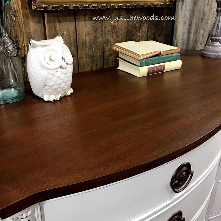 How to Get a Farmhouse White Painted Dresser by Just the Woods