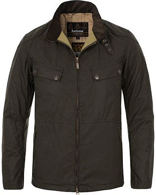 Barbour International Rebel Waxed Jacket Fern