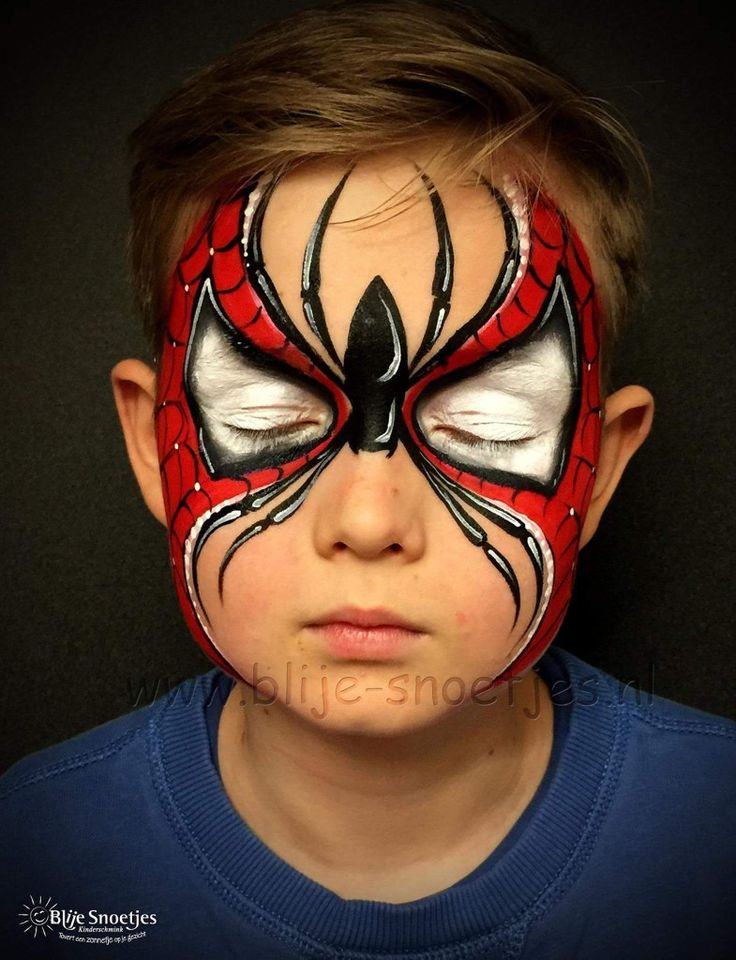 Spderman mask #facepainttutorial