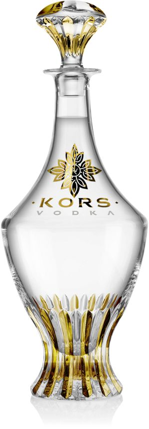 Kors Vodka Gold Edition with grains gathered from 12 different countries