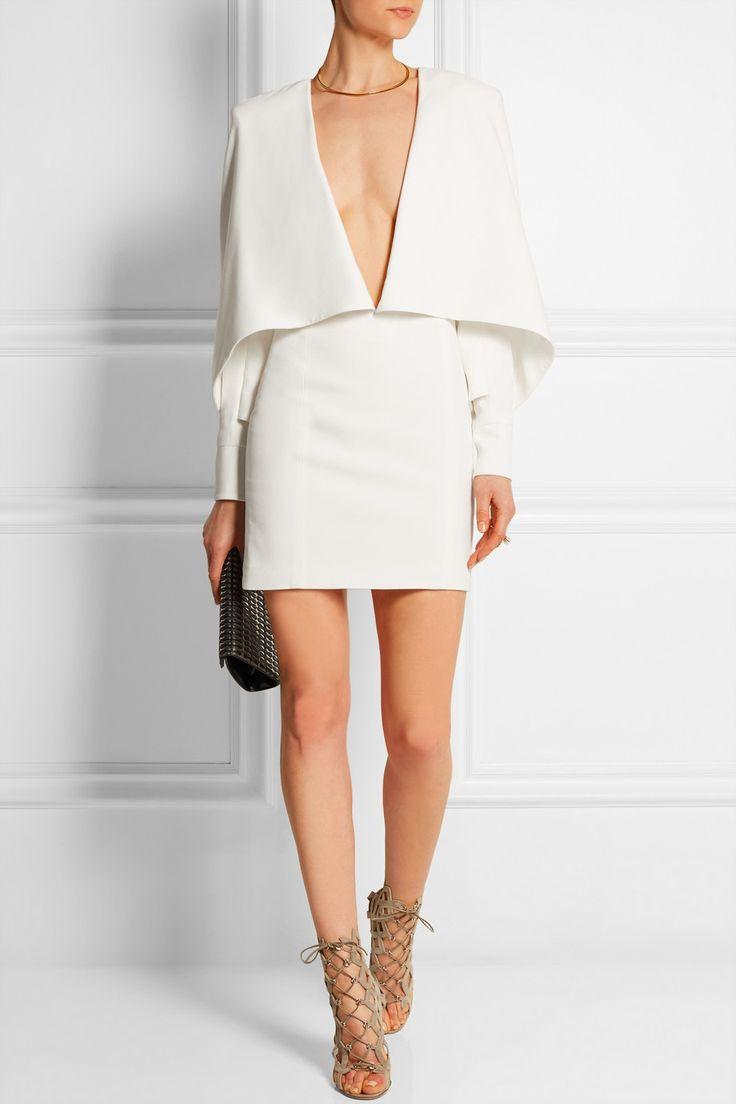 Balmain   Cape-effect crepe mini dress   NET-A-PORTER.COM (KIRSTEN)