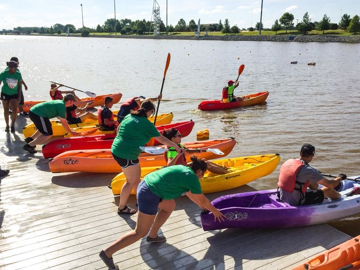 Kayaking In The Boathouse District Of Oklahoma City