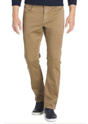 Izod Men's Knit Regular Fit Denim - Tan/Khaki - 32 X 32