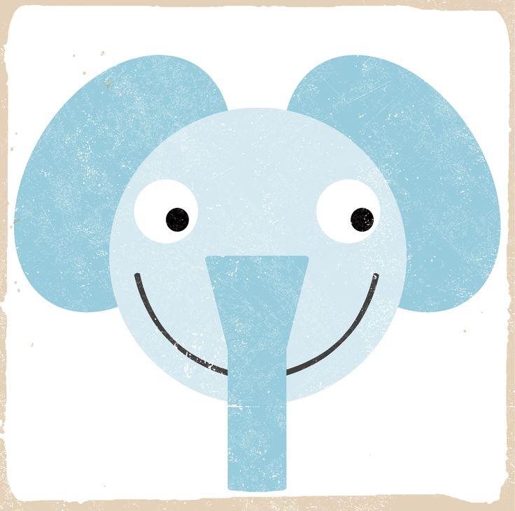 elefante - animali da PRATI A DONDOLO #animal #illustration