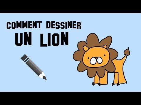 Comment dessiner un lion : un modèle simple et facile - YouTube