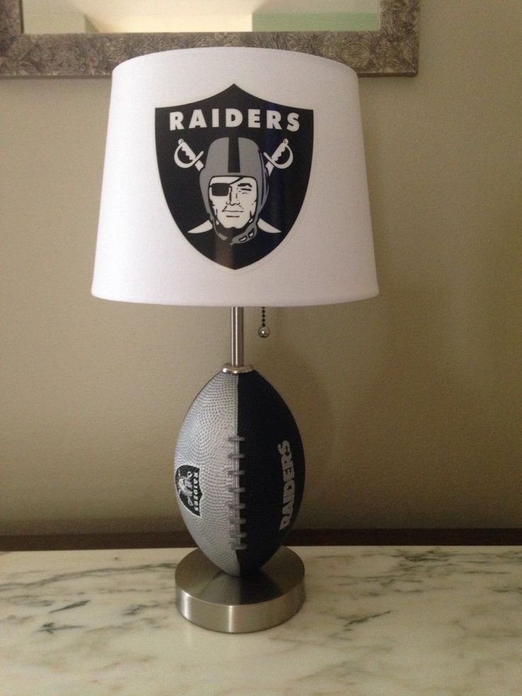 Oakland Raiders football lamp by thatlampguyGraz on Etsy https://www.etsy.com/listing/230122431/oakland-raiders-football-lamp