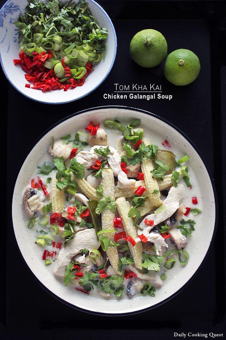 Selain tom yam kung, tom kha kai adalah runner up sup Thailand favorit. Ini adalah satu lagi sup yang super menyegarkan, dan itu tidak terasa berat dibanding tom yam kung karena santan digunakan di sini bukan sekadar air  dan ayam, menjadika sup ini untuk sangat cocok untuk musim dingin. Cara membuat sup ini benar-benar sederhana.