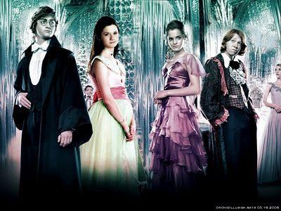 The Yule Ball    Harry Potter  Ginny Weasley  Hermione Granger  Ron Weasley  Fleur Delacour: Dear Harry, Ball Outfits, Film Costumes, The Yule Ball, Costumes Ron, Dresses Based, Harry Potter, Hermoin Dresses, Ball Harry