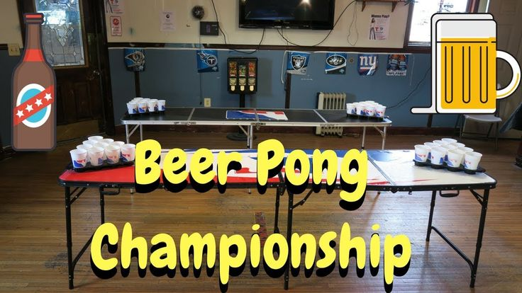 Watch as we play in our first ever beer pong tournament in New Jersey!