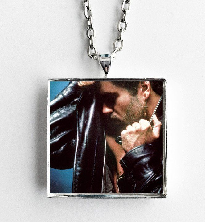 George Michael - Faith - Album Cover Art Pendant Necklace