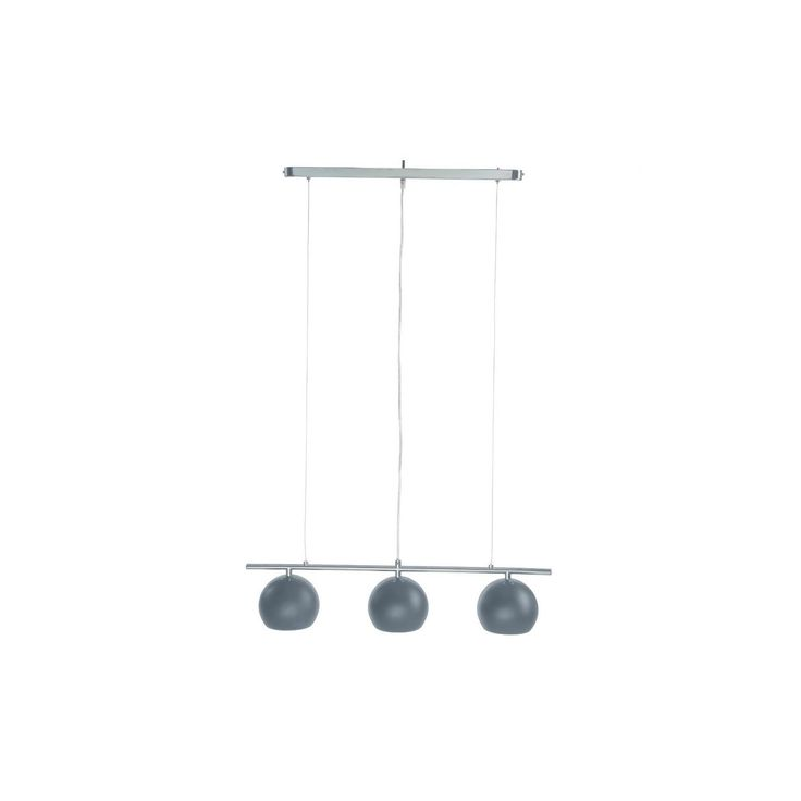 Jja - Suspension 3 Lampes Metal Gris - pas cher Achat / Vente Suspensions, lustres - RueDuCommerce