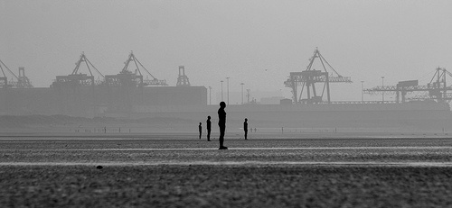 Gormley, Another Place, Crosby towards Liverpool by Ianmoran1970