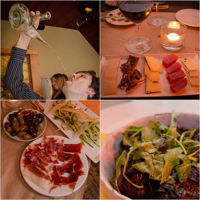 Mundaka, a Basque tapas restaurant in Carmel-by-the-Sea, California. Try the jamon iberico de bellota and (if you dare!) try drinking wine out of a porrón!