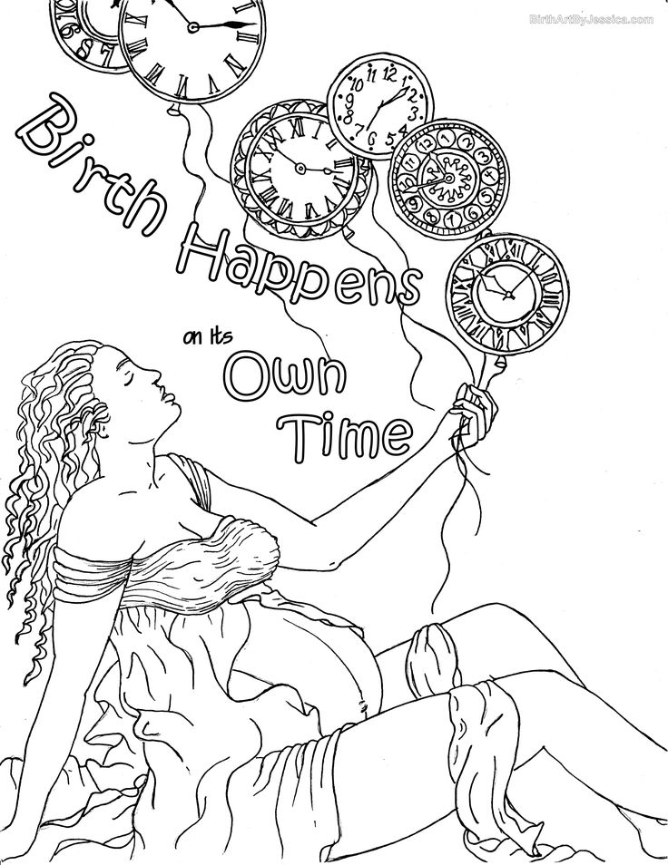 Birth Affirmation Coloring Page Free Printable Birth Birth Of Coloring Pages