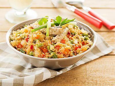 Recept Quinoa met makreel, groenten en gember | Ekoplaza | De grootste biologische supermarktketen van Nederland