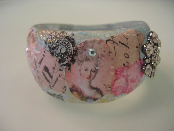 MARIE ANTOINETTE  Collage Decoupage Shabby Chic Fashion by cindyg, $78.00