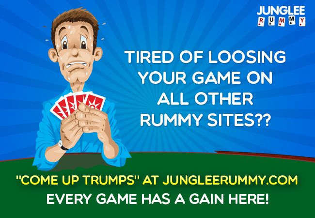 """Tired of loosing your game on other #rummysites ? """"Come up Trumps"""" at…"""