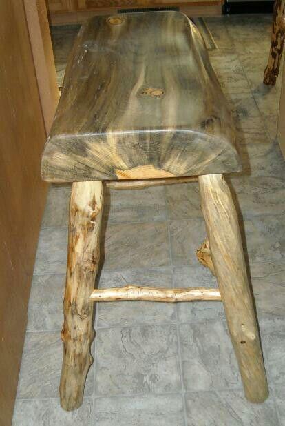 Log bar stool