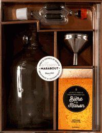 Marabout - Coffret Faire sa bière maison - Contient : 1 bonbonne en verre, 1 entonnoir, 1 tube flexible, 1 canne de soutirage, 1 thermomètre, 1 barboteur et son bouchon. - Agrandir l'image