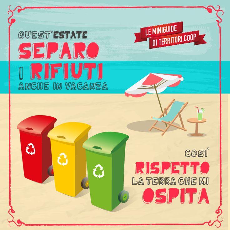Separa i rifiuti! Così rispetti la natura #vacanze #sostenibili